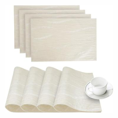 Morocco Ivory Printed Fabric Placemat (Set of 4)