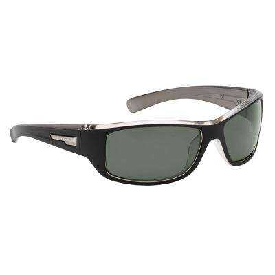 Helm Polarized Sunglasses Black-Crystal Gunmetal Frame with Smoke Lens