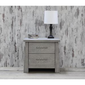 Fusion 2-Drawer Driftwood Nightstand by