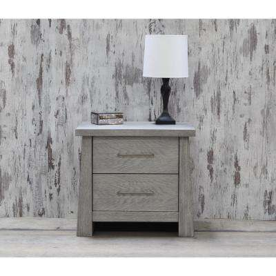 Fusion 2-Drawer Driftwood Nightstand