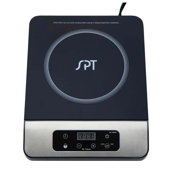 1650-Watts 8 in. Single Burner Induction Cooker (Silver/Black) with 3.5L Induction Ready Stainless Steel Pot w/Glass Lid