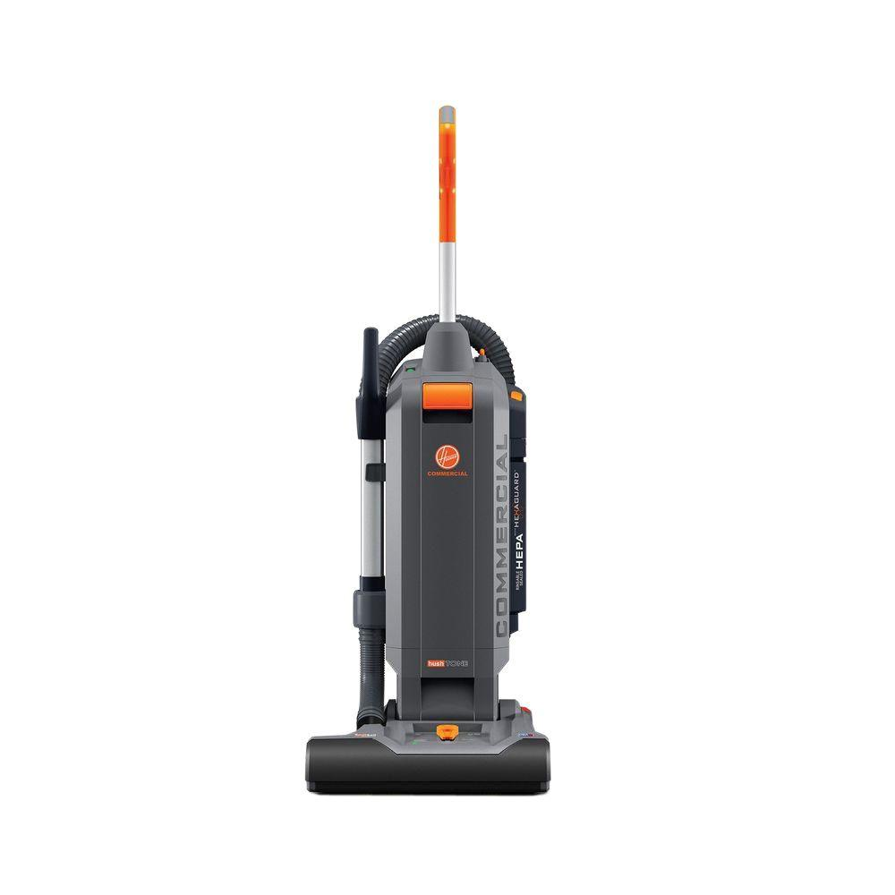 Hoover Commercial HushTone 15 In Plus Hard Bagged Upright Vacuum