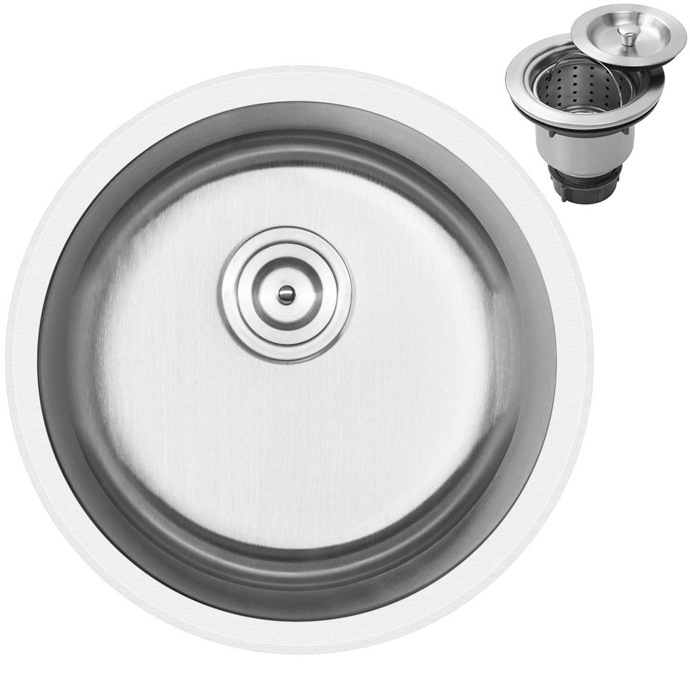 Ticor Haven Dual Mount 16 Gauge Stainless Steel 18 25 In Single