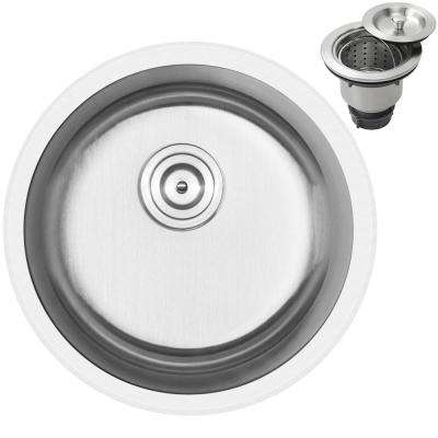 Haven Dual Mount 16-Gauge Stainless Steel 18.25 in. Single Basin Kitchen and Bar Sink with Basket Strainer