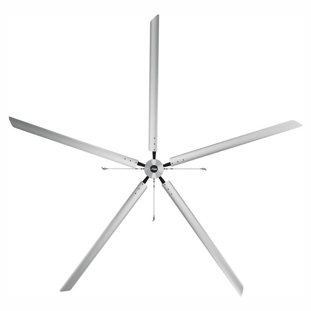 Titan 20 ft. 220-Volt Indoor Anodized Aluminum Single Phase Commercial Ceiling Fan