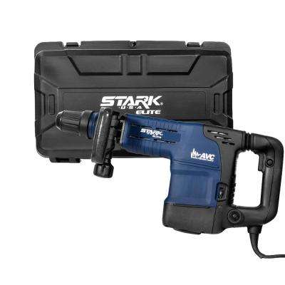 Elite 1200-Watt SDS-Max Corded Variable Speed Jack Demolition Hammer with AVC Handle 2 Chisel Bits and Hard Case