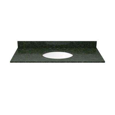37 in. Granite Vanity Top in Blue Butterfly with White Basin