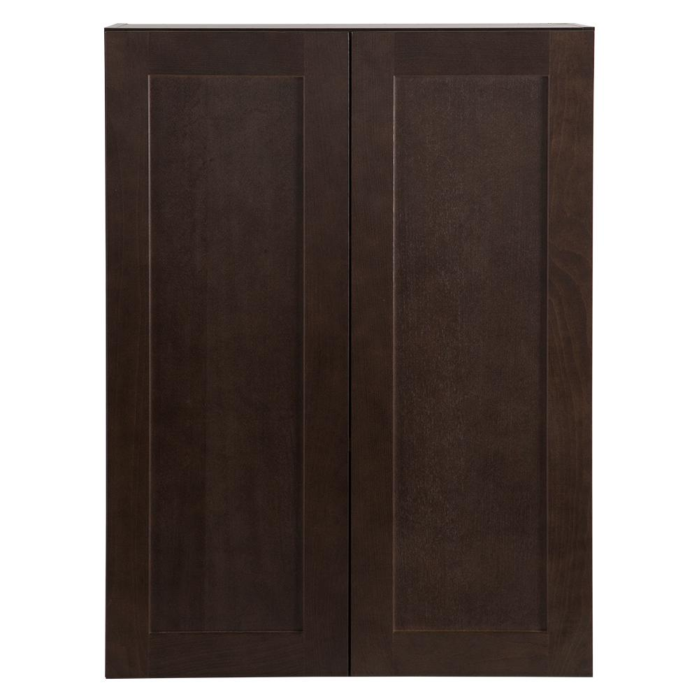 Cambridge Pantry Cabinets In Dusk: Hampton Bay Cambridge Assembled 27x36x12 In. Wall Cabinet