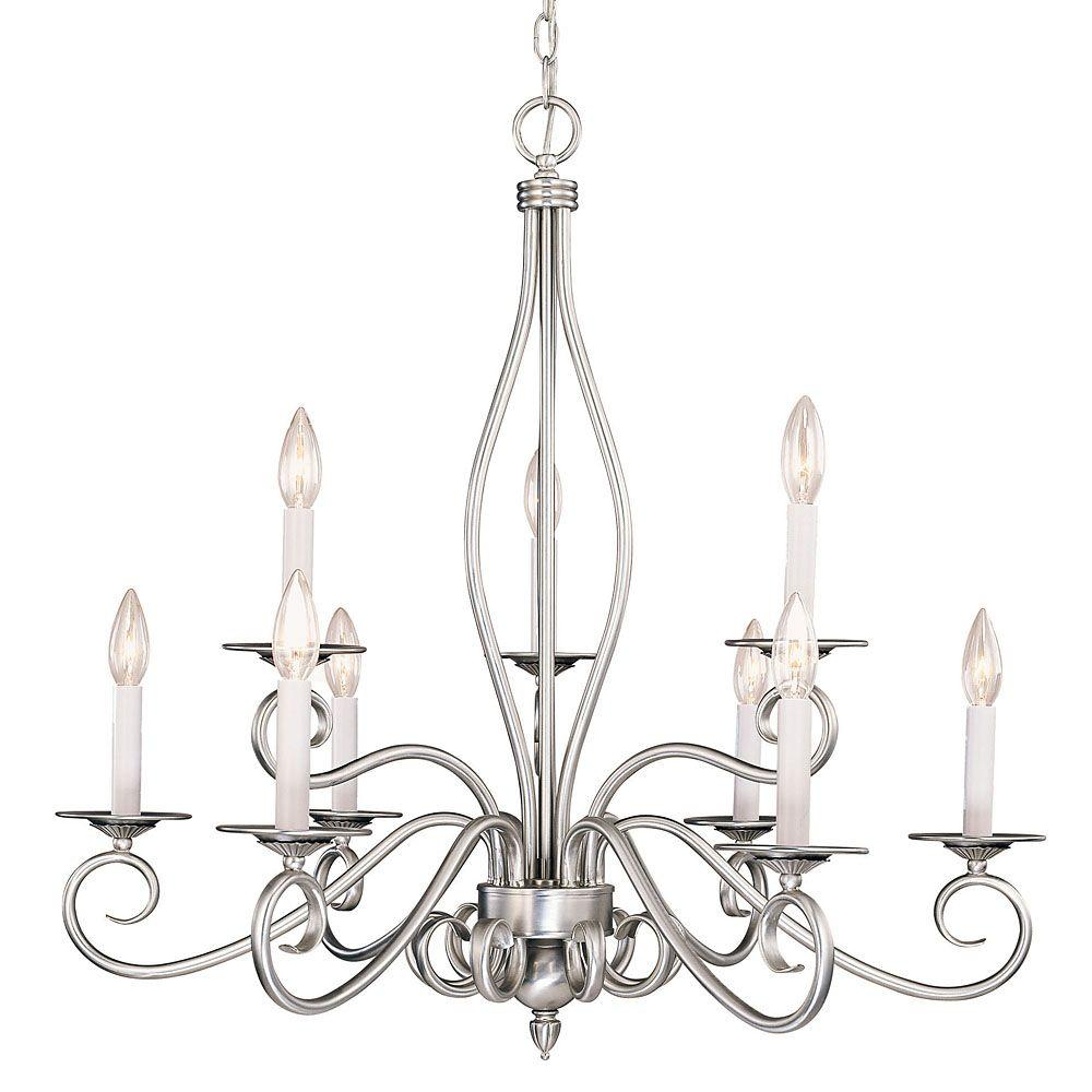 Illumine 9 light pewter chandelier cli sh202852056 the home depot illumine 9 light pewter chandelier arubaitofo Gallery