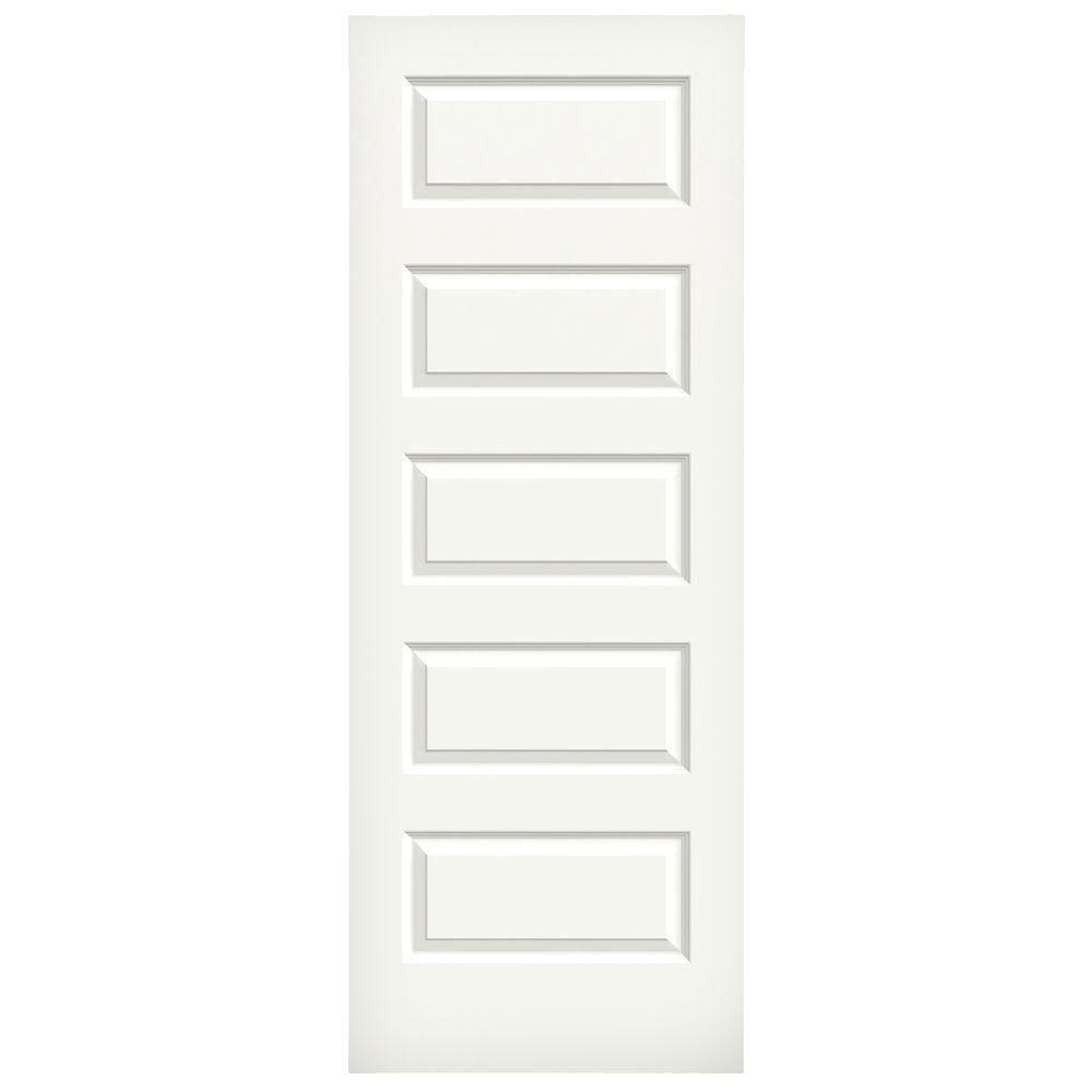 Jeld wen 28 in x 80 in rockport white painted smooth for 14 x 80 interior door