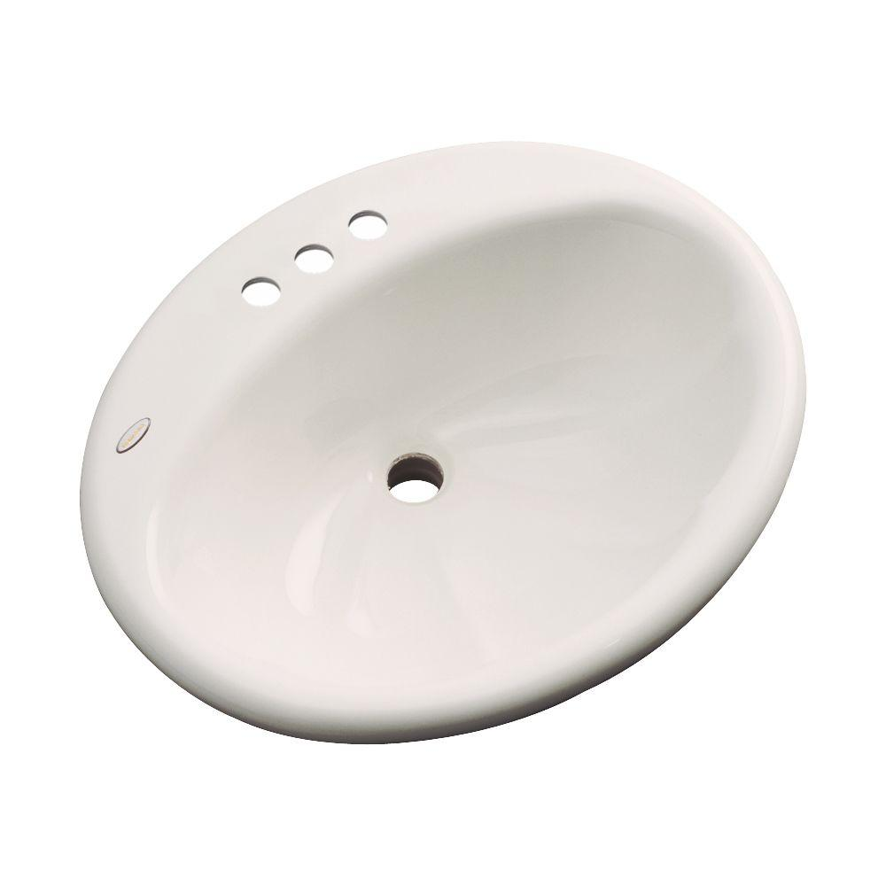 null Oceana Designer Drop-In Bathroom Sink in Almond