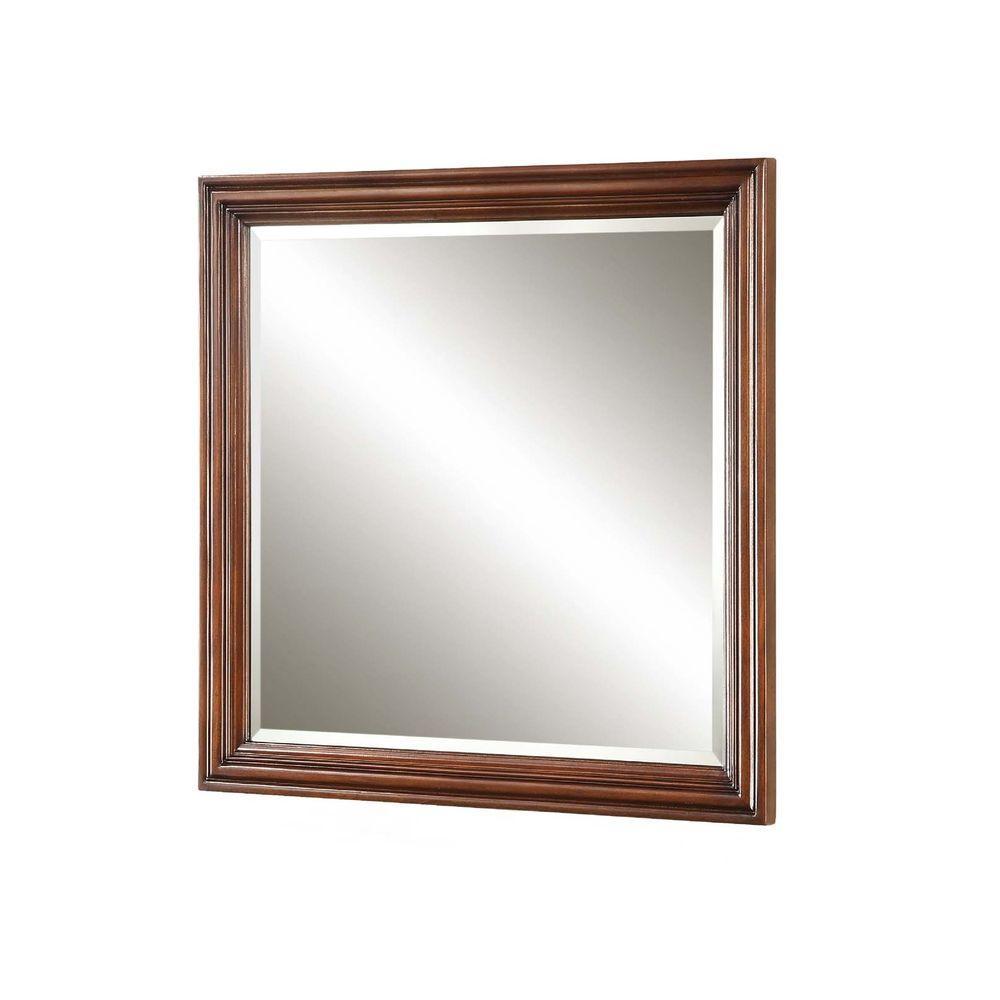 Pegasus Bradford 30 in. L x 30 in. W Wall Mirror in Cherry