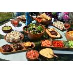 Acaciaware 5-Piece Wood Baguette Tray Set with Bowls and Spoons