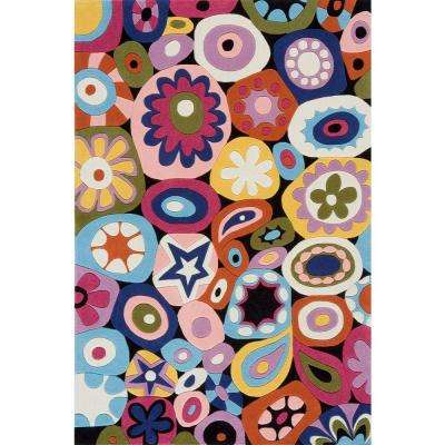 Young Buck Collection Multi 4 ft. x 6 ft. Area Rug