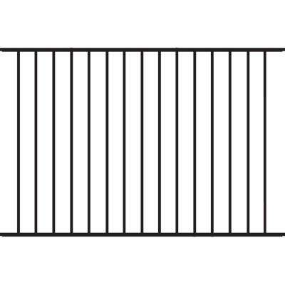 Beechmont Standard-Duty 4 ft. H x 6 ft. W Black Aluminum Pre-Assembled Fence Panel