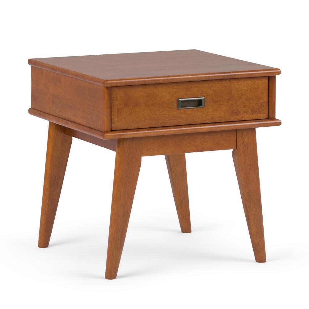 Draper Mid Century Teak Brown End Table