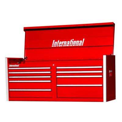 Pro Series 54 in. 9-Drawer Top Chest, Red