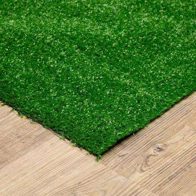 6 ft. x 8 ft. Green Artificial Grass Rug