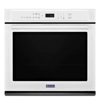 27 in. Single Electric Wall Oven with Convection in White