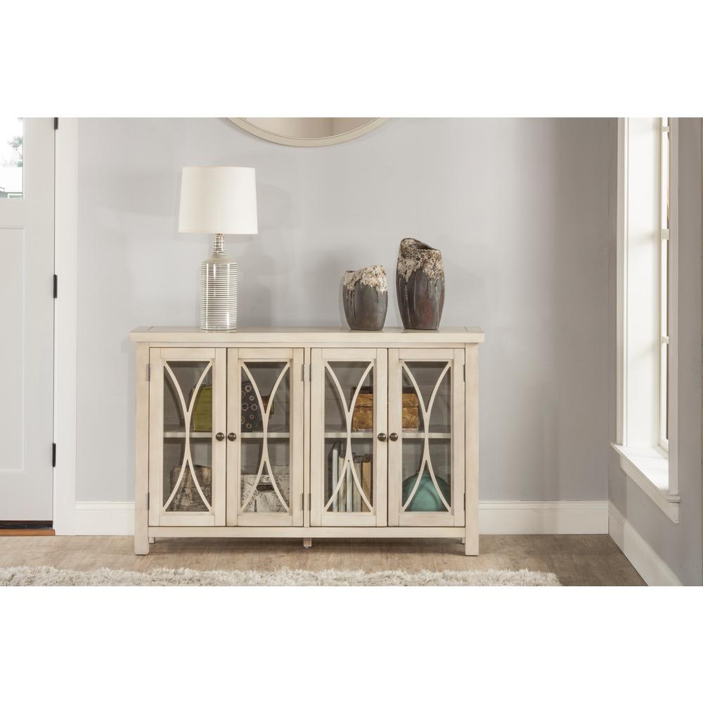 Superieur Hillsdale Furniture Bayside Antique White 4 Door Cabinet