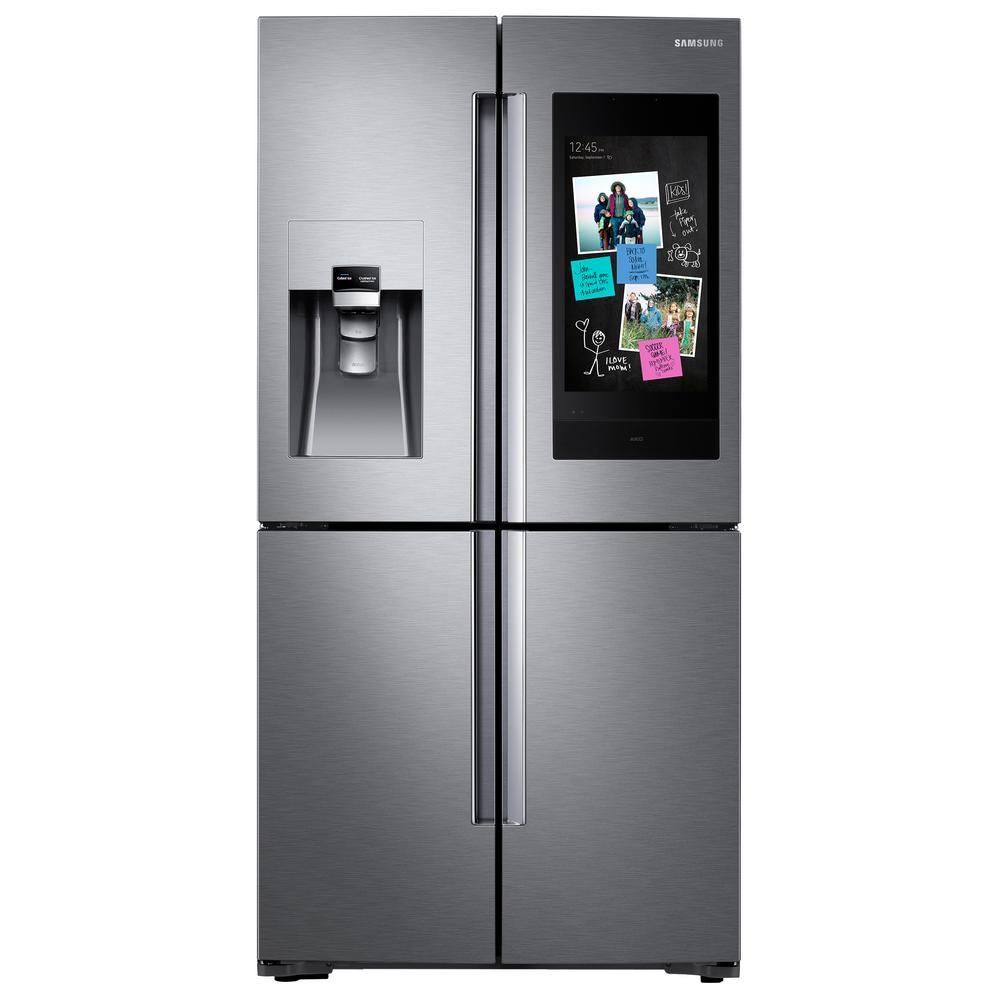 Samsung 27.9 cu. ft. Family Hub 4-Door French Door Smart Refrigerator in Stainless Steel with FlexZone, Fingerprint Resistant Stainless Steel was $4332.0 now $2898.0 (33.0% off)