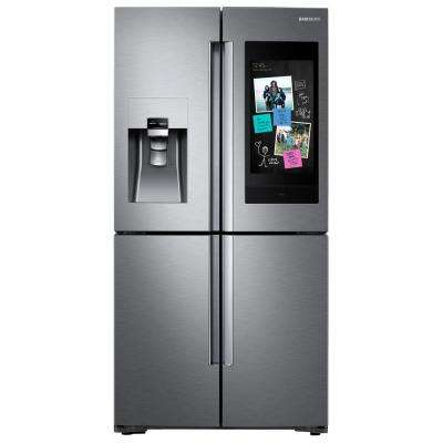 27.9 cu. ft. Family Hub 4-Door French Door Smart Refrigerator in Stainless Steel with FlexZone