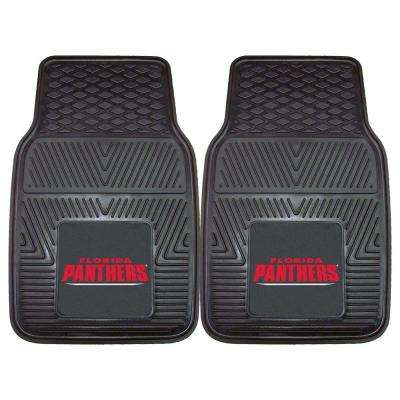 NHL Florida Panthers Heavy Duty 2-Piece 18 in. x 27 in. Vinyl Car Mat