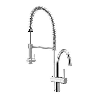 Dresden Single-Handle Pull-Down Sprayer Kitchen Faucet in Chrome