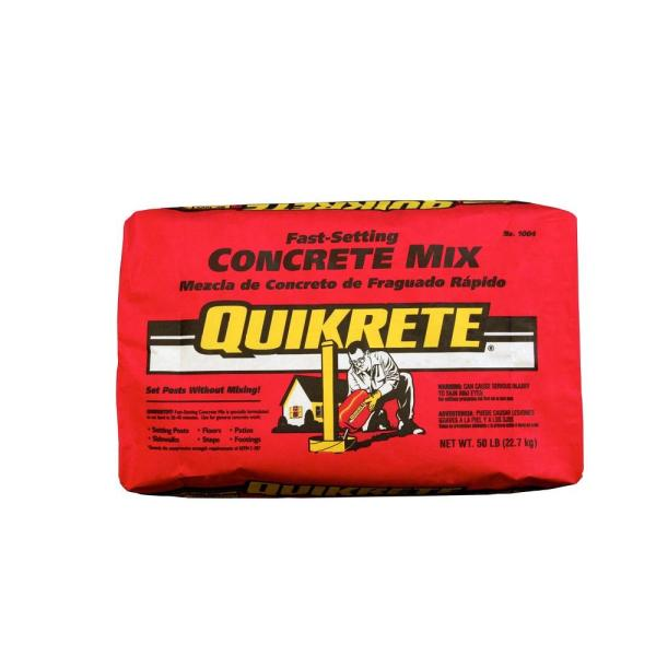 Quikrete 50 Lb Fast Setting Concrete Mix 100450 The Home Depot