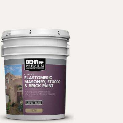 5 gal. #MS-39 Crystal White Elastomeric Masonry, Stucco and Brick Exterior Paint
