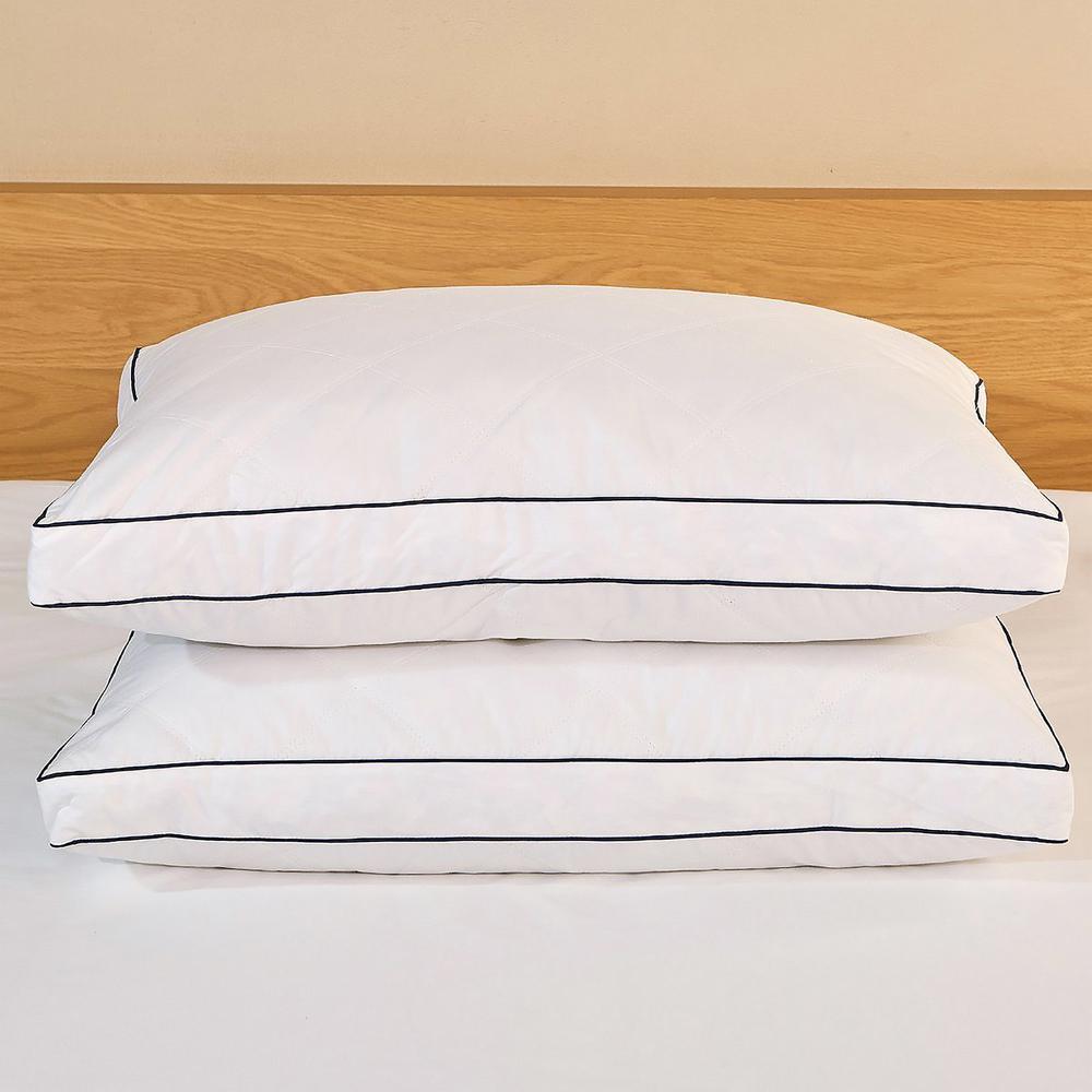 Feather & Down Blend Gusset Jumbo Pillow (Set of 2)