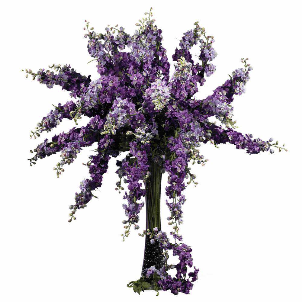 38.5 in. H Purple Delphinium Stem (Set of 12)