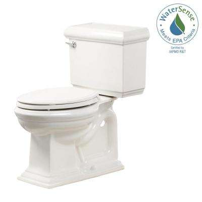 Memoirs 2-Piece 1.28 GPF Single Flush Elongated Toilet in White, Seat Included (3-Pack)