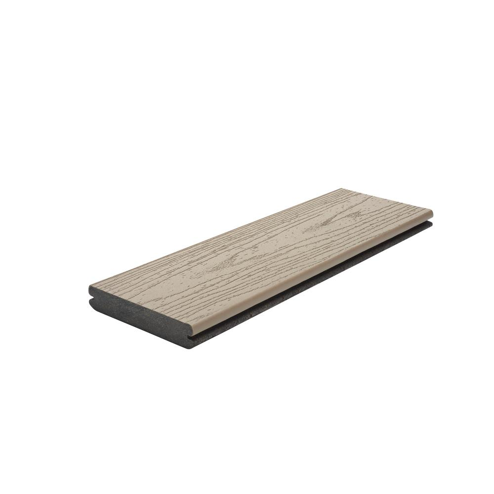 Trex Transcend 1 in. x 5.5 in. x 1 ft. Rope Swing Composite Decking Board Sample (Model # RST92000 )
