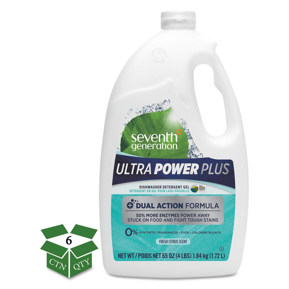 65 oz. Fresh Citrus Natural Auto Dishwasher Gel Ultra-Power Plus Bottle (6-Count)