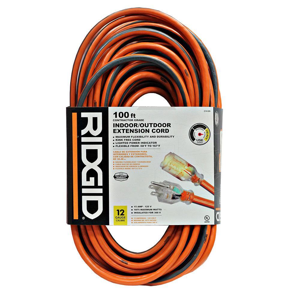 RIDGID - Extension Cords - Extension Cords & Surge Protectors ...