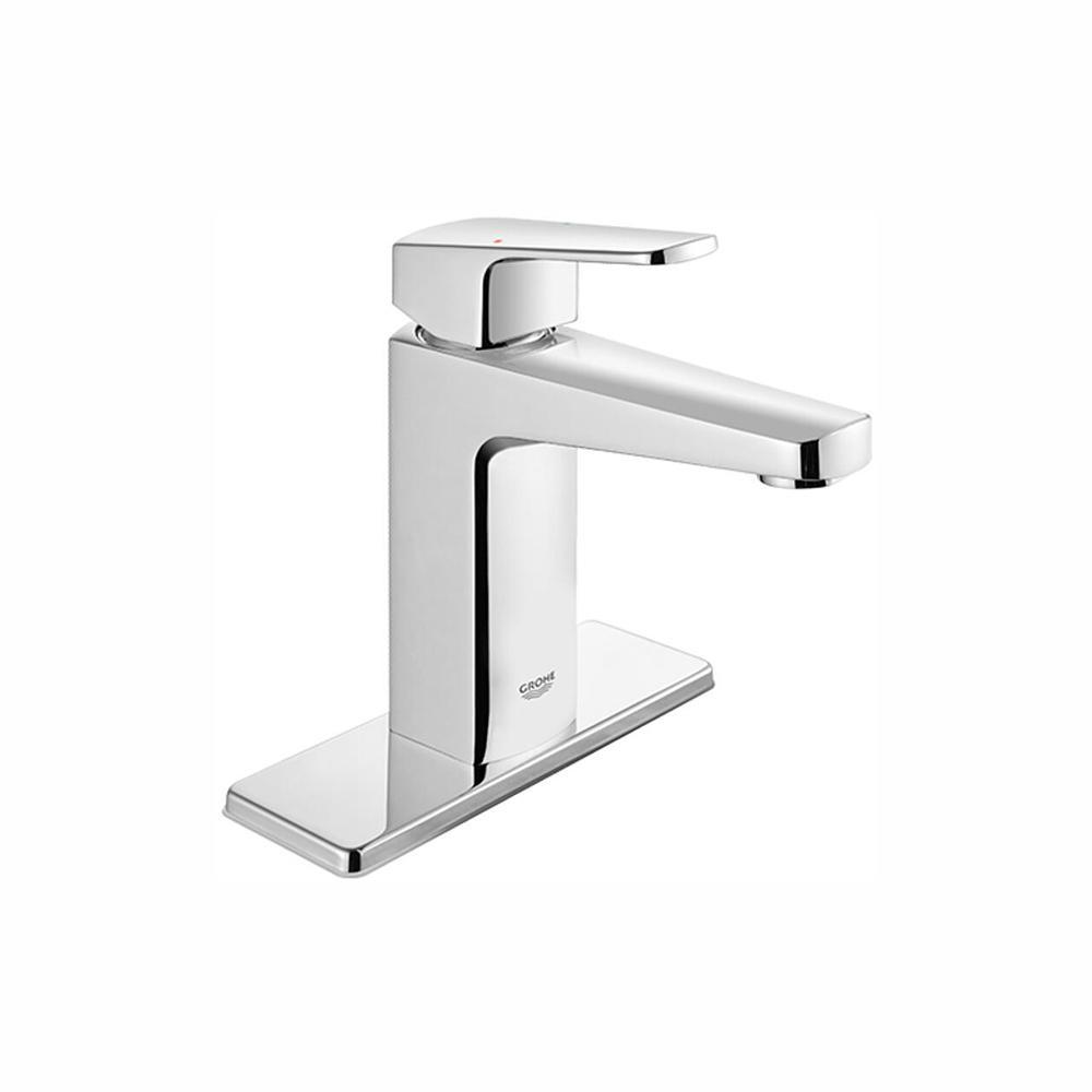 Tallinn 4 in. Centerset Single-Handle Bathroom Faucet in Starlight Chrome