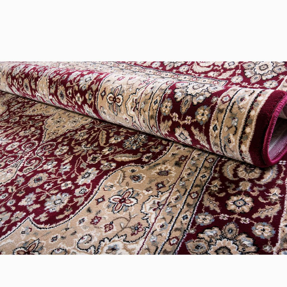 Home Dynamix Triumph Burgundy 2 ft 6 in x 11 ft 2 in Indoor