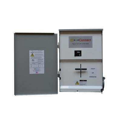 Manual Transfer Switch, Service Entrance Rated with 100 Amp Main Disconnect