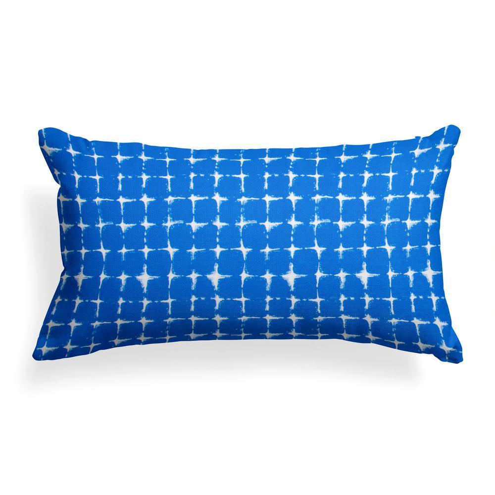Sea Island Blue Rectangular Lumbar Outdoor Pillow