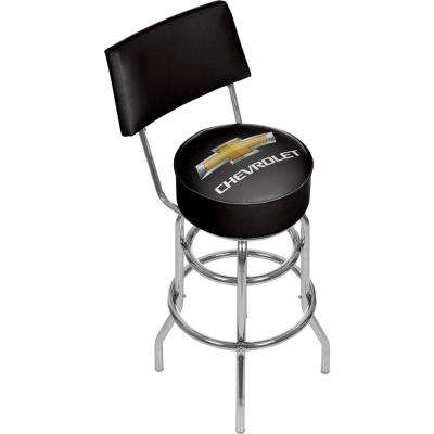 Chevrolet 30 in. Chrome Swivel Cushioned Bar Stool