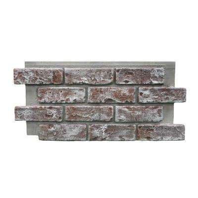Chicago Brick 22.5 in. x 11.75 in. Brick Veneer Siding Half Panel