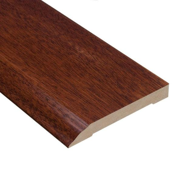 Brazilian Cherry 1/2 in. Thick x 3-1/2 in. Wide x 94 in. Length Wall Base Molding