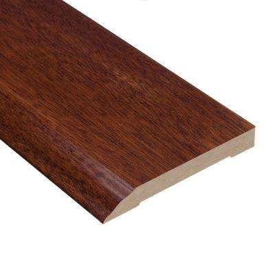 Brazilian Cherry 1/2 in. Thick x 3-1/2 in. Wide x 94 in. Length Hardwood Wall Base Molding