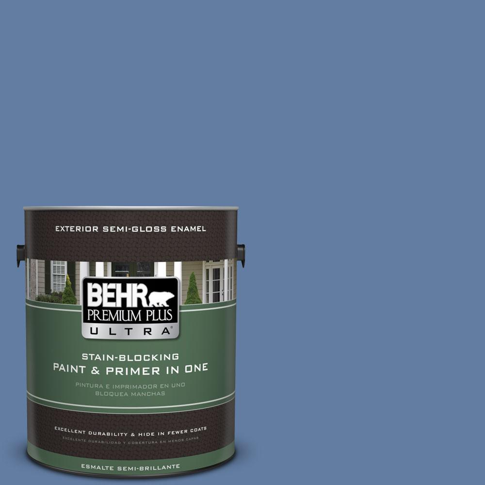 1-gal. #600D-6 Blueberry Patch Semi-Gloss Enamel Exterior Paint
