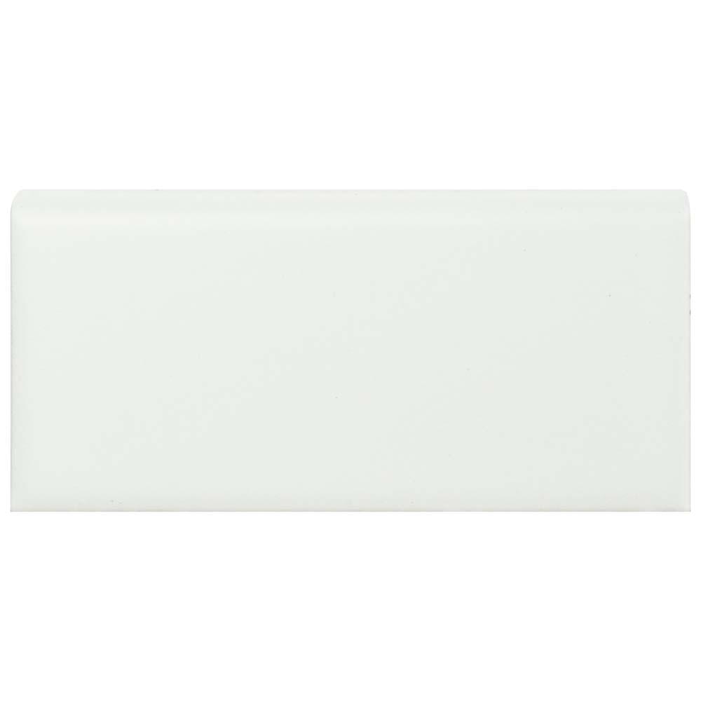 Merola Tile Metro Matte White 1-3/4 in. x 3-3/4 in. Porcelain Bullnose Floor and Wall Trim Tile (0.5 sq. ft. / pack)