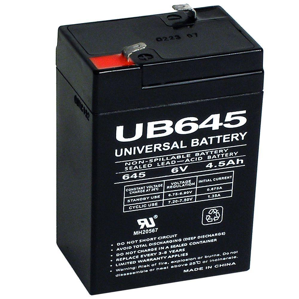 UPG 6-Volt 4.5 Ah Rechargeable Sealed Lead Acid SLA Battery