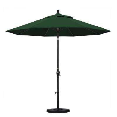 9 ft. Aluminum Push Tilt Patio Umbrella in Hunter Green Pacifica