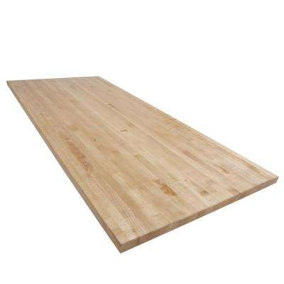 7 ft. L x 3 ft. D x 1.75 in. T Butcher Block Countertop in Finished Maple