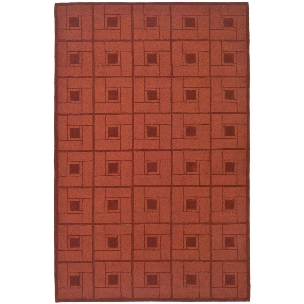Martha Stewart Living Square Knot Vermillion 4 ft. x 6 ft. Area Rug